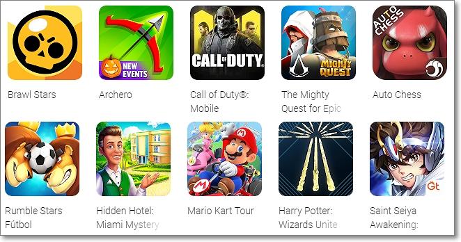 Juegos nominados Google Play