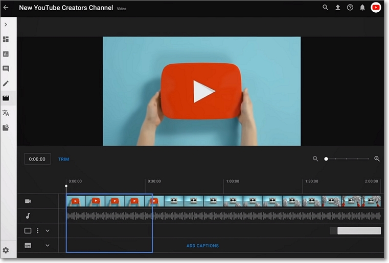 Editor de vídeo Studio Youtube
