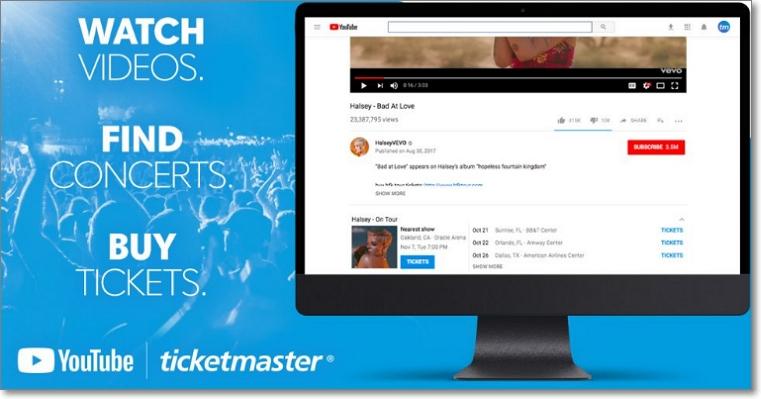 Vender entradas en Youtube