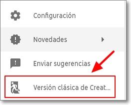 enlace hacia creator studio youtube