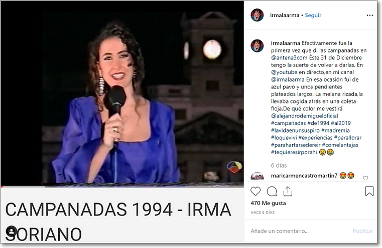 Instagram Irma Soriano youtube 2019-20
