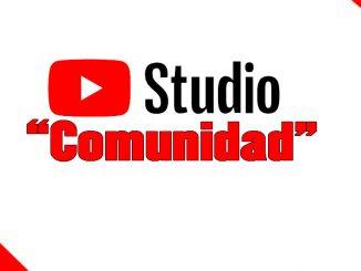 comunidad youtube studio