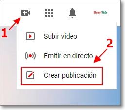 Botón de crear publicación en la comunidad