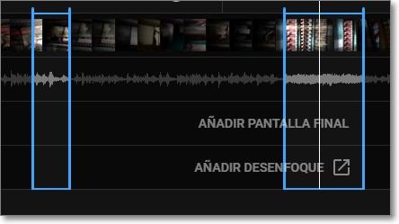 Edita los segmentos de tu vídeo
