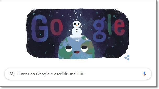 Google doodle invierno