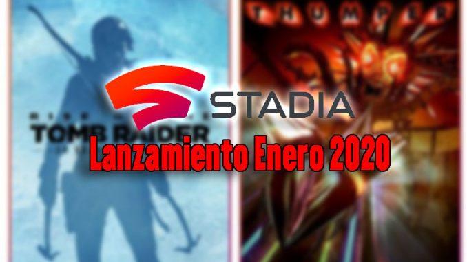 Stadia Juegos enero 2020
