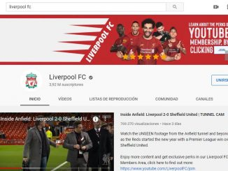 canal youtube premium liverpool fc