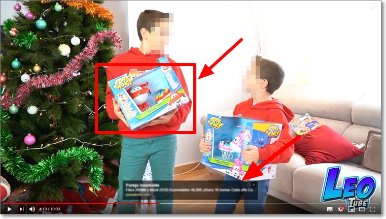 Publicidad en Youtube con adsense y promociones juguetes