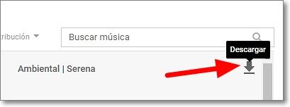 Icono de descarga de música en biblioteca de audio