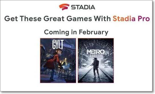 Juegos Stadia Febrero 2020