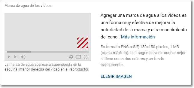 Marca de agua en los vídeos de Youtube studio