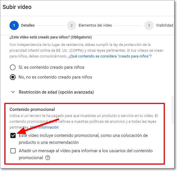 Contenido promocional en Youtube