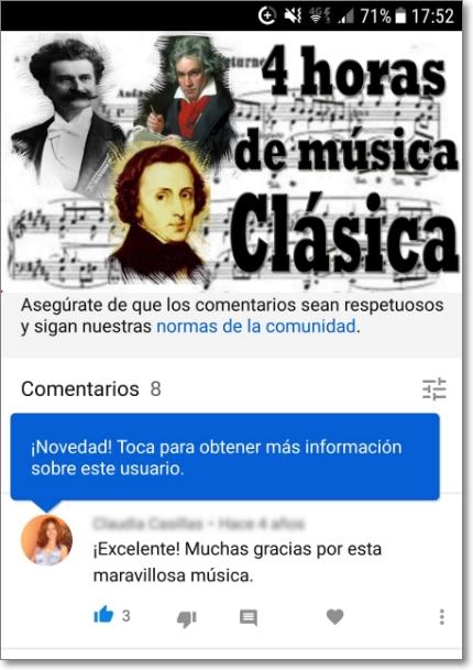 Tarjeta de perfil en Youtube