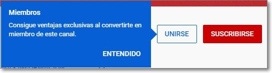 botón unirse de youtube