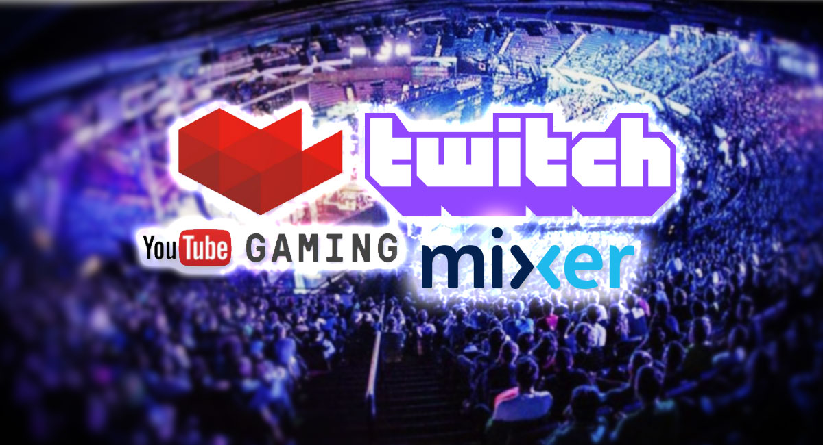 youtube gaming twitch mixer