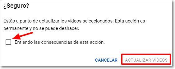 Seguridad del proceso de edición de vídeos en youtube studio