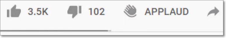 boton aplaudir en youtube