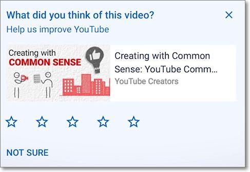 Encuesta satisfacción del vídeo de youtube