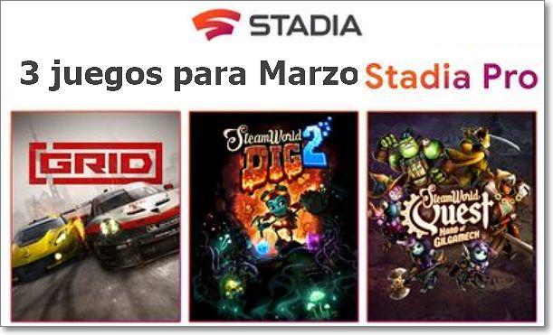 Juegos stadia mes de marzo 2020