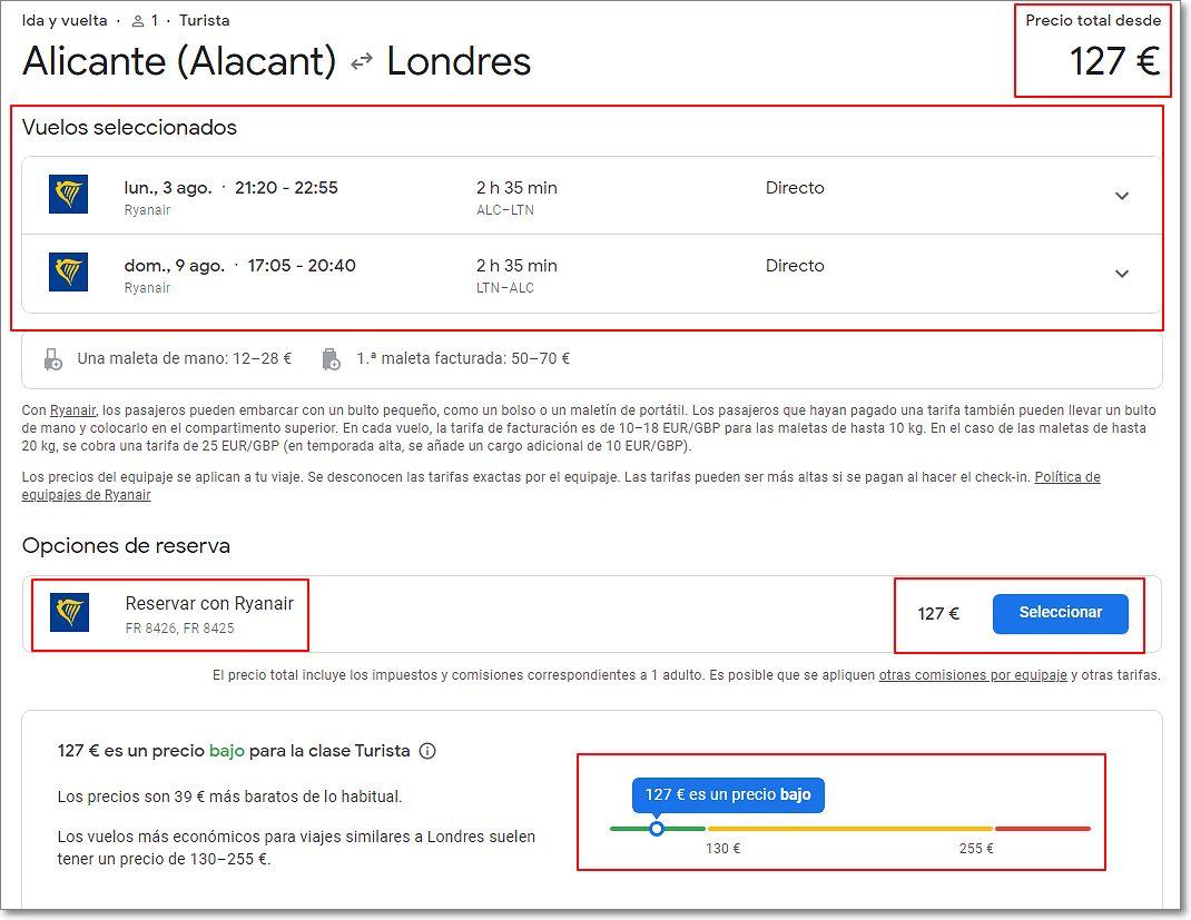 Vuelos más baratos de google viajes