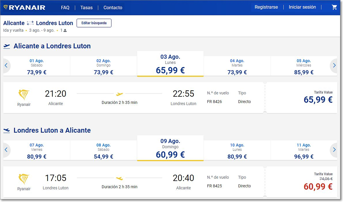 Precios baratos del partner de Google viajes