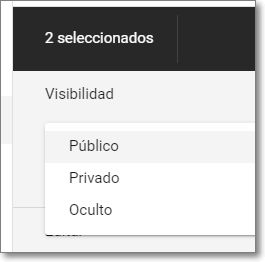Visibilidad de los vídeos editados con Youtube Studio