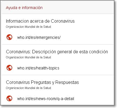 Ayuda e información Alerta SOS