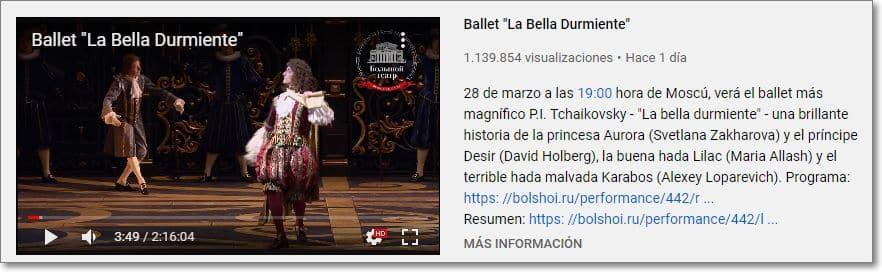 "Ballet ""La bella durmiente"" Tchaikovsky"