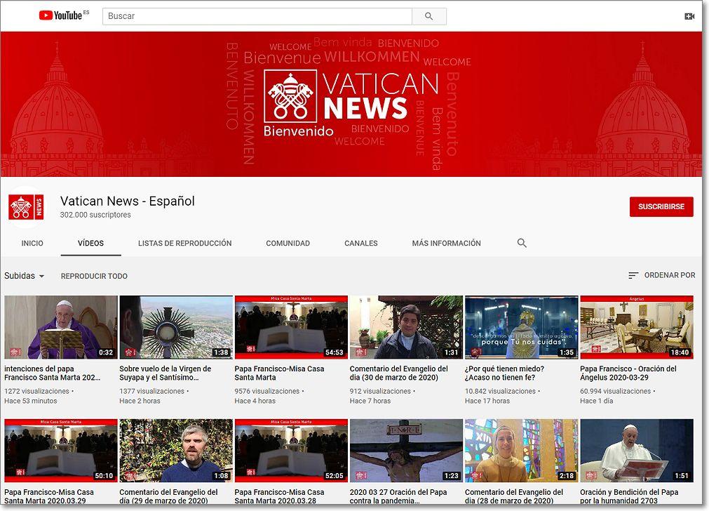 Canal youtube vaticano