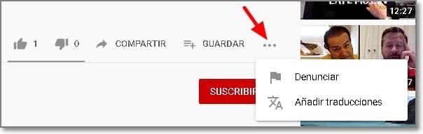 Denunciar vídeo de Youtube