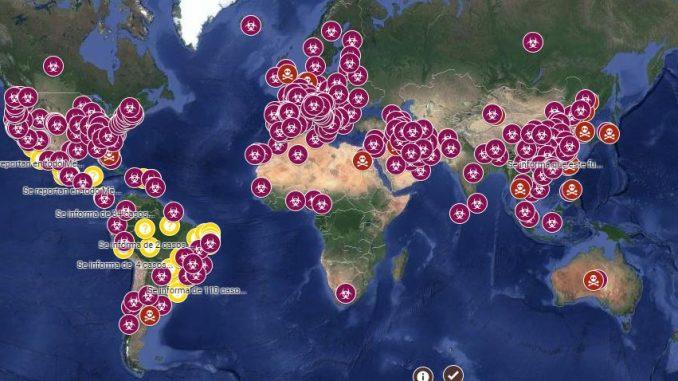 google maps coronavirus mundial