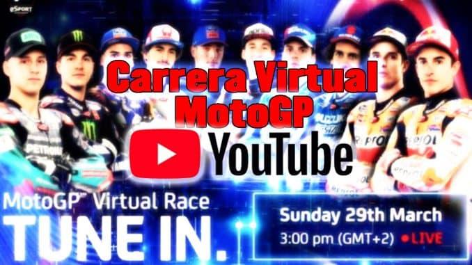 carrera virtual de MotoGP por Youtube