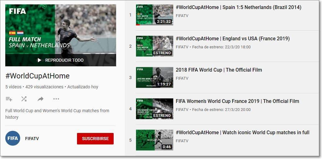 partidos de los mundiales #WorldCupAtHome