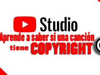 como saber copyright canción youtube