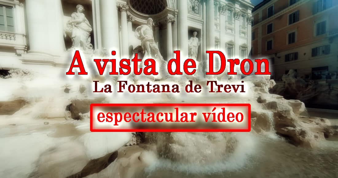 dron la fontana de trevi