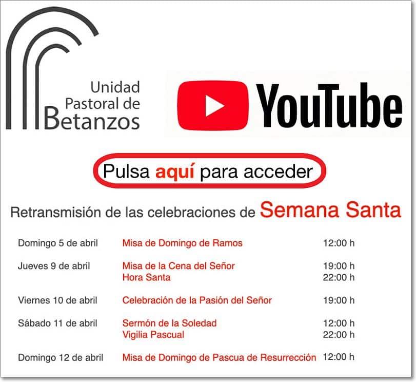 Canal youtube unidad pastoral de betanzos