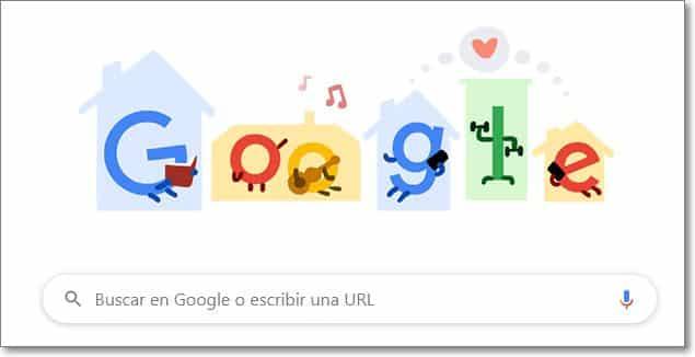 doodle google coronavirus