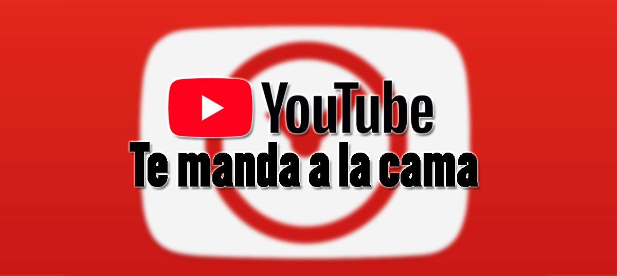 recordatorio ir a dormir con youtube