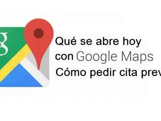 pedir cita con google maps