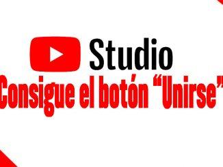 conseguir el botón unirse de youtube