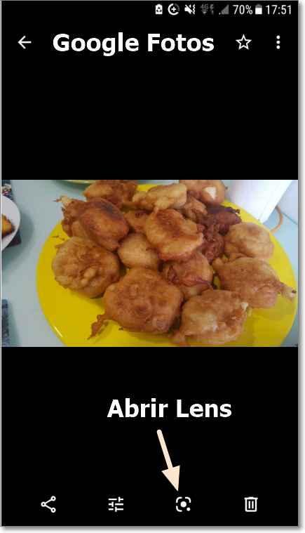 Google Fotos con Lens