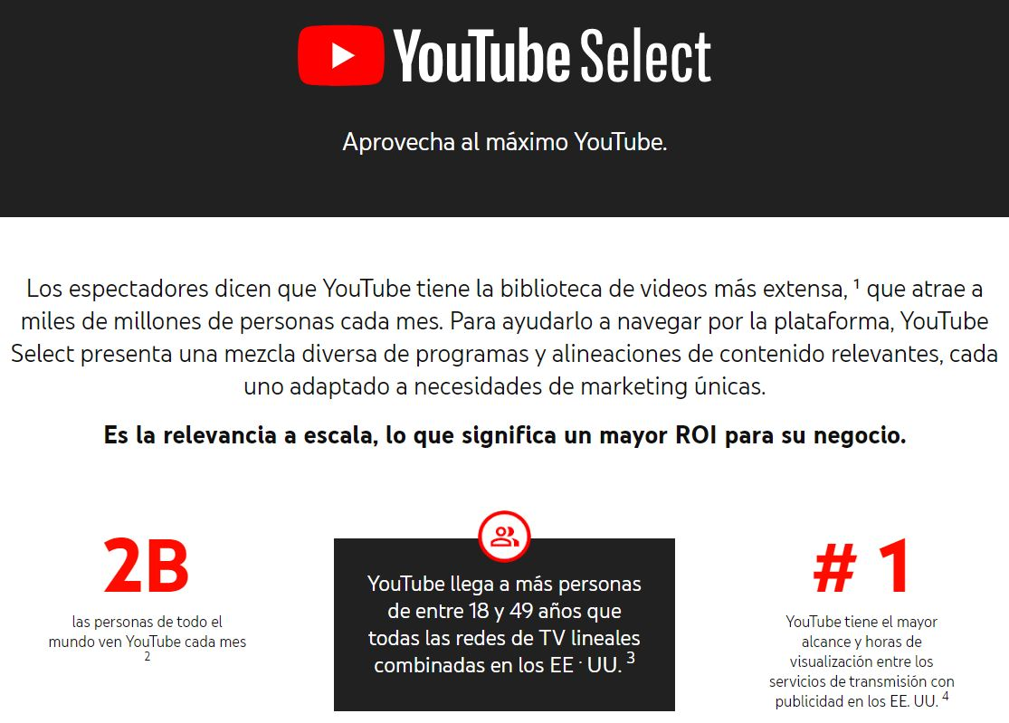 Página Youtube Select