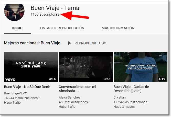 Tema Buen viaje en youtube