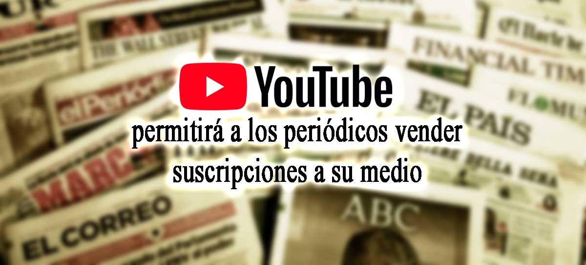 youtube permite suscripciones periodicos
