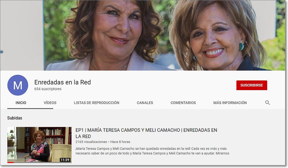 Enredadas en la red canal youtube maria teresa campos