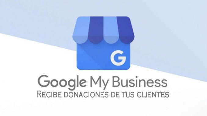 donaciones de clientes con google my business