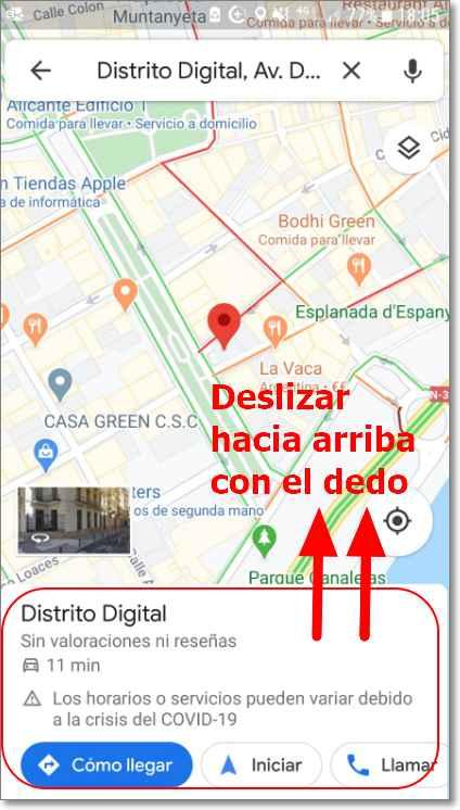 Encontrar Plus Codes en Google Maps
