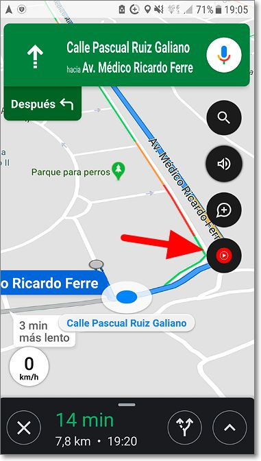 Icono Youtube Music en Google Maps