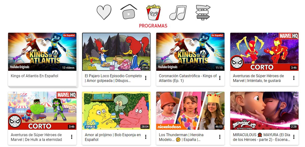 películas gratis en youtube kids