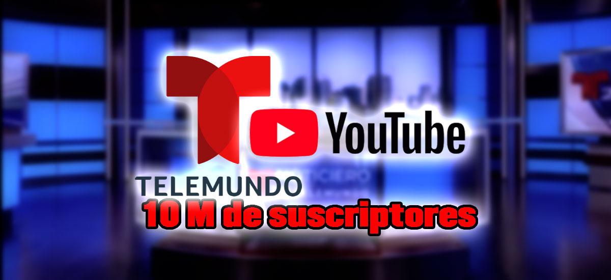 telemundo record youtube suscriptores